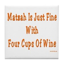 Matzah and Wine Passover Tile Coaster