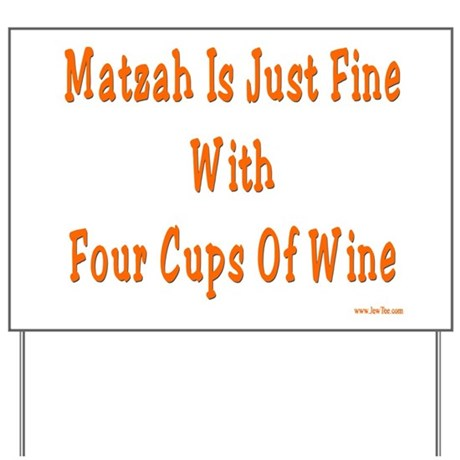 Matzah and Wine Passover Yard Sign