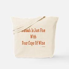 Matzah and Wine Passover Tote Bag