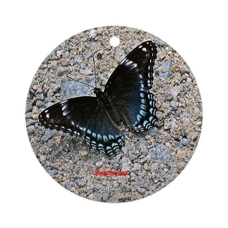 BLUE SWALLOWTAIL Ornament (Round)