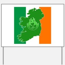 irish flag land flame Yard Sign