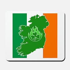 irish flag land flame Mousepad