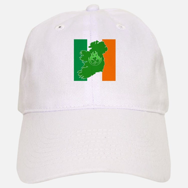 irish flag land flame Baseball Baseball Cap