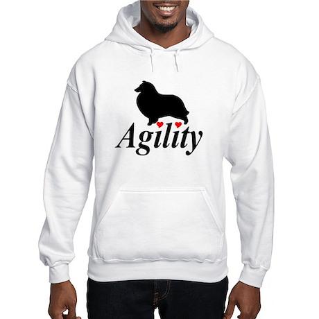 """""""Shelties Love Agility""""Hooded Sweatshirt"""