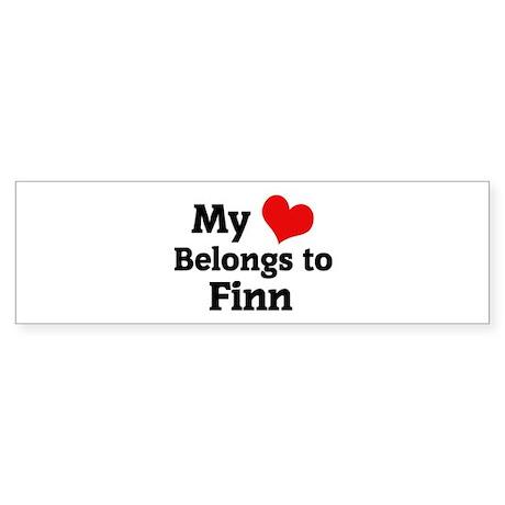 My Heart: Finn Bumper Sticker