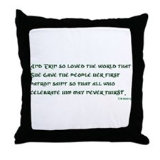 Irish 3:17 Reading Throw Pillow