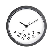 Lost Numbers Wall Clock