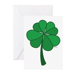 4 leaf clover - Greeting Cards (Pk of 10)