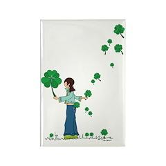 clover girl - Rectangle Magnet (10 pack)