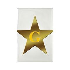 Masonic Blazing Star Rectangle Magnet (100 pack)
