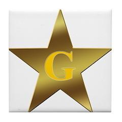 Masonic Blazing Star Tile Coaster