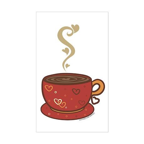 Coffee Love Sticker (Rectangle)