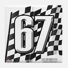 Flag No. 67 Tile Coaster