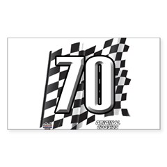 Flag No. 70 Sticker (Rectangle 10 pk)