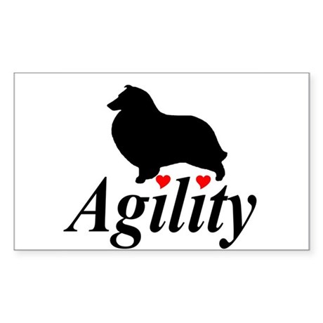 """Shelties Love Agility"" Sticker"