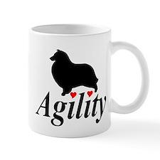 """Shelties Love Agility"" Mug"
