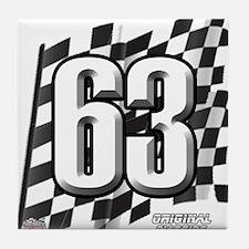 Flag No. 63 Tile Coaster