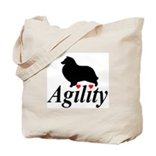 """Shelties Love Agility"" Tote Bag"