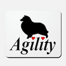 """""""Shelties Love Agility"""" Mousepad"""