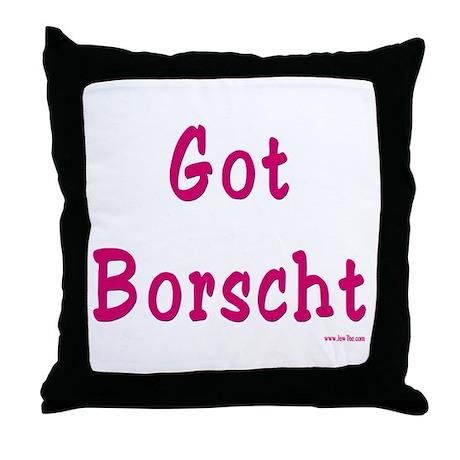 Got Borscht Passover Throw Pillow