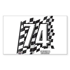 Flag No. 74 Decal