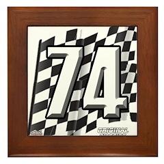Flag No. 74 Framed Tile