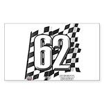 Flag No. 62 Sticker (Rectangle 10 pk)