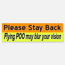 Flying Poo horse trailer sticker (orange&yello