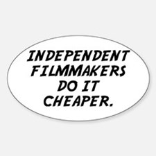 Indie Film Oval Decal