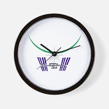 """""""ISS Dawn"""" Wall Clock"""