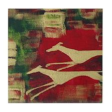 Red/Gold Greyts Tile Coaster