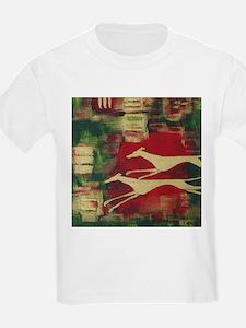 Red/Gold Greyts Kids T-Shirt