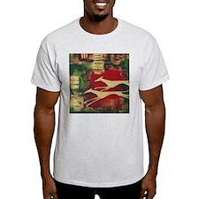 Red/Gold Greyts Ash Grey T-Shirt