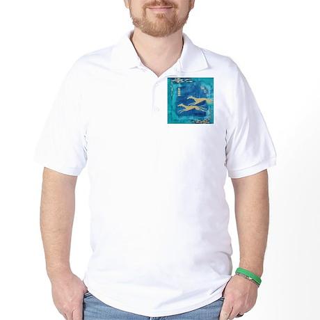 Aqua/Gold Greyts Golf Shirt