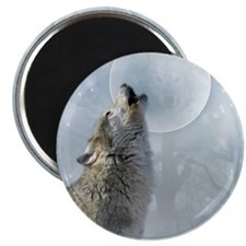 """Wolf Blue Moon 2.25"""" Magnet (100 pack)"""