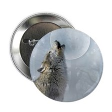 "Wolf Blue Moon 2.25"" Button"