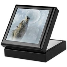 Wolf Blue Moon Keepsake Box