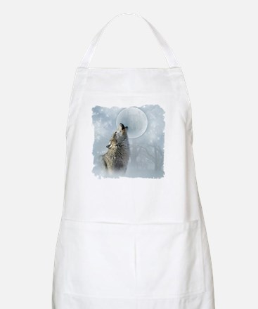 Wolf Blue Moon Apron