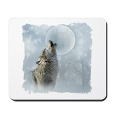 Wolf Blue Moon Mousepad