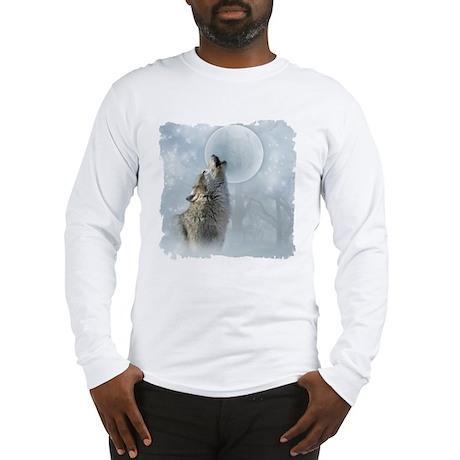 Wolf Blue Moon Long Sleeve T-Shirt