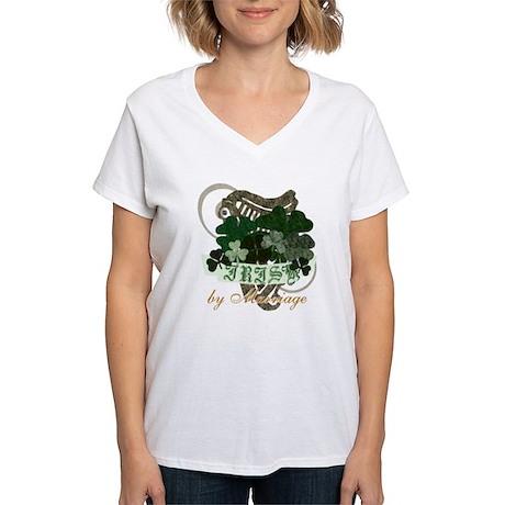 Irish by Marriage Women's V-Neck T-Shirt