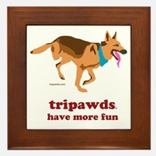 Tripawds Have More Fun Framed Tile