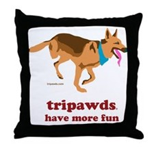 Tripawds Have More Fun Throw Pillow