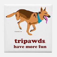 Tripawds Have More Fun Tile Coaster