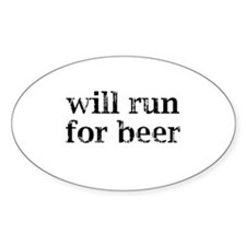 Will Run For Beer Decal