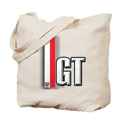 GT Red White Tote Bag