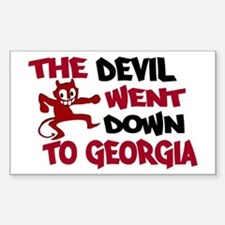 The Devil Went Down to Georgi Decal