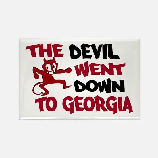 The Devil Went Down to Georgi Rectangle Magnet