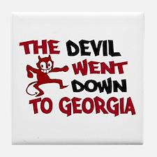 The Devil Went Down to Georgi Tile Coaster