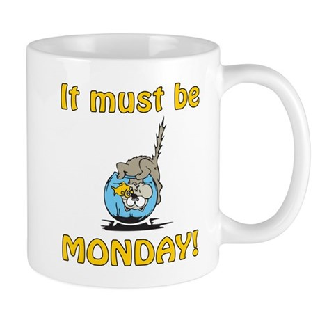 Funny Monday Cat Mug